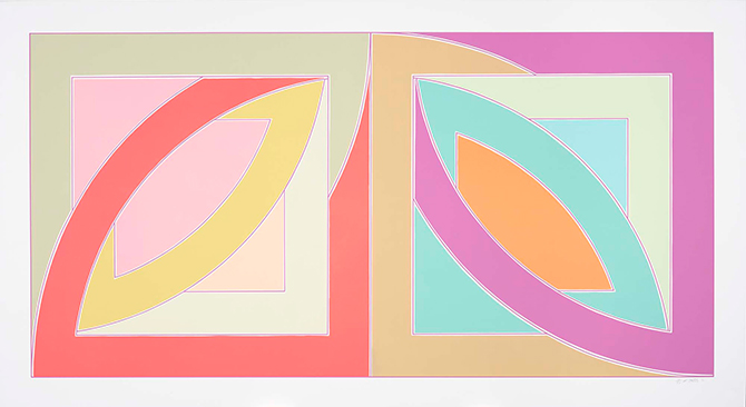 """Frank Stella, Bonne Bay"", from the ""Newfoundland Series"", 1970"