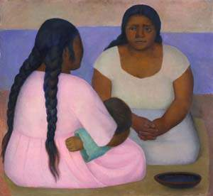 Diego Rivera (Mexican, 1886–1957). Two Women and a Child, 1926. Oil on canvas.