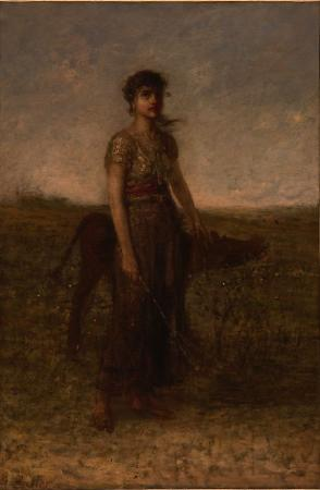 Girl and Calf by George Fuller