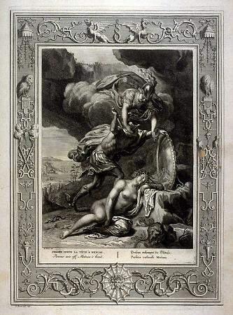 Perseus cuts off Medusa's head
