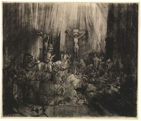 Rembrandt's The Three Crosses, 1653