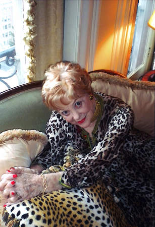 Denise Fitch in leopard