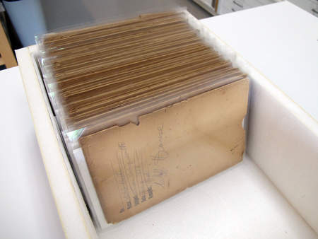 Original envelopes stored