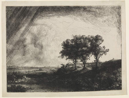 Rembrandt's The Landscape with the Three Trees, 1643