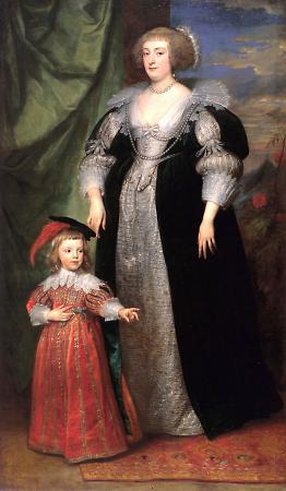 Marie Claire de Croy and Child by Van Dyck