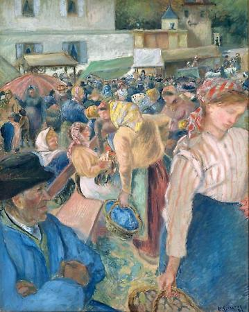 Poultry Market at Gisors, 1885