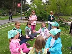 Kids at Art in the Summer camp at the de Young
