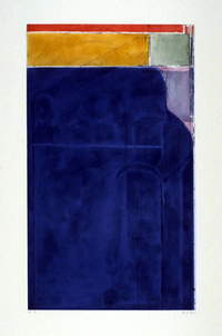 "Richard Diebenkorn, ""Large Bright Blue,"" 1980"