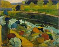 Washerwomen, Arles 1888 by Paul Gauguin
