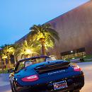 Porsche on display outside de Young. Photo by Irja Elisa of Got Light?