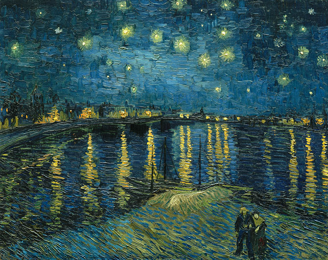 Van Gogh, Starry Night Over the Rhone