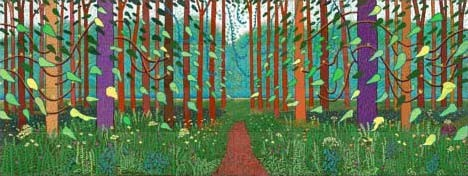 David Hockney The Arrival of Spring in Woldgate, Easy Yorkshire