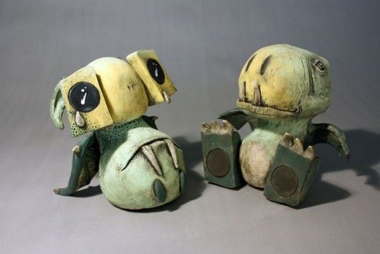 Monsters and robots sculptures