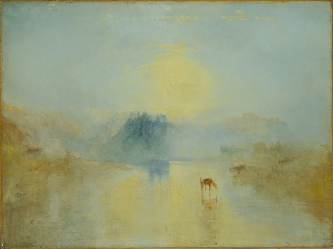 Joseph Mallord William Turner Norham Castle, Sunrise, ca.1845 Oil on canvas 35 ¾ x 48 in. (90.8 x 121.9 cm) Tate London Image © Tate, London 2014