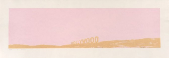 Ed Ruscha, Pepto - Caviar Hollywood, 1970. Color Screenprint On Copperplate Deluxe Paper; Torn And Deckle Edges, Sheet: 378 x 1080 mm (14 7/8 x 42 1/2 in.); Image: 256 x 955 mm (10 1/16 x 37 5/8 in.). Museum purchase, Mrs. Paul L. Wattis Fund.