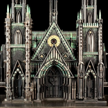 A cathedral made out of amunition