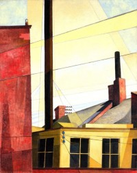 modern painting of architectural details