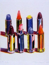 "Wayne Thiebaud, ""Eight Lipsticks"", 1988"
