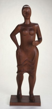 sculpture of a woman by Elizabeth Catlett