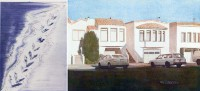 Thiebaud, Tide Figures, 2006; Bechtle, Three Houses on Pennsylvania Avenue, 2011