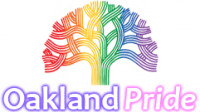 Oakland pride logo of rainbow tree