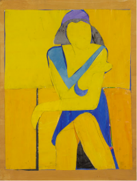 "Richard Diebenkorn, ""Untitled (Yellow Collage),"" 1966"