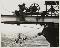 men building bridge