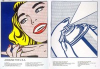 "Roy Lichtenstein lithograph ""Girl and Spray Can"""