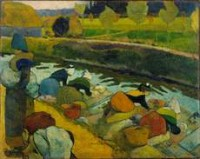 Paul Gauguin Washerwomen, Arles 1888