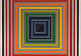 Frank Stella, Lettre sur les aveugles II, 1974. Synthetic polymer paint on canvas. Fine Arts Museums of San Francisco, Foundation purchase, Phyllis C. Wattis Fund for Major Accessions