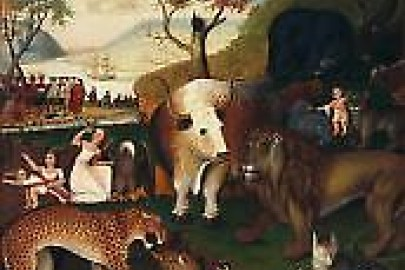 "Hicks, The ""Peaceable Kingdom"", ca. 1846"