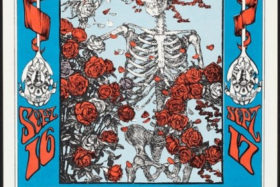"""Stanley Mouse and Alton Kelley, """"Skeleton and Roses"""""""