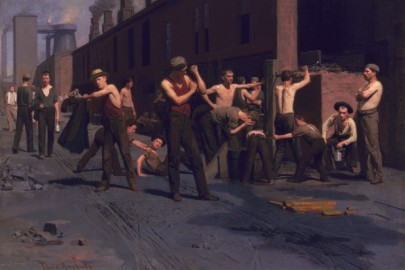 The Ironworkers' Noontime by Thomas Pollock Anshutz