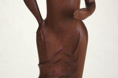 sculpture of woman by Elizabeth Catlett
