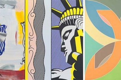 Artworks by Roy Lichtenstein and Frank Stella
