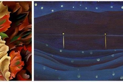 Autum Leaves and Starlight Night by Georgia O'Keeffe