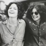 Anthony Friedkin, Women at Gay Liberation Parade, Los Angeles, 1972, from the series The Gay Essay. Gelatin silver print. Fine Arts Museums of San Francisco, anonymous gift, 2011.58.23