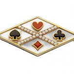 """Playing Card"" brooch"
