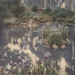 Willard E. Worden, <em>Japanese Tea Garden</em>, ca. 1915. Gelatin silver print with applied color. Jerry Bianchini Collection