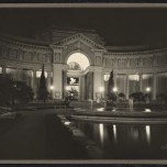 Willard E. Worden, <em>The Court of Palms at Night</em>,1915. Gelatin silver print. Jerry Bianchini Collection