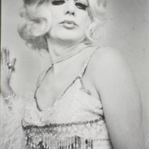 Anthony Friedkin, Gene Harlow, Drag Queen Ball, Long Beach, 1971 from the series The Gay Essay. Gelatin silver print. Fine Arts Museums of San Francisco, anonymous gift, 2011.58.2