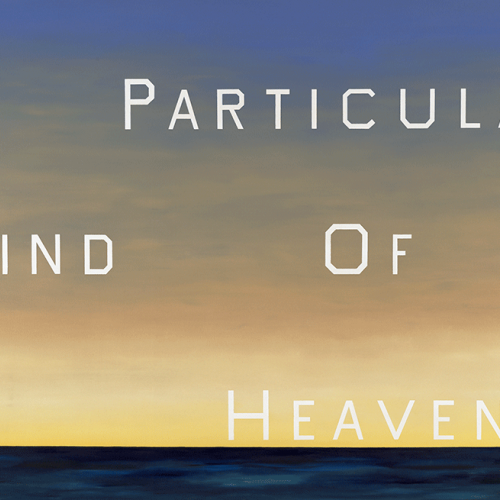 "Ed Ruscha, ""A Particular Kind of Heaven"",1983. Oil on canvas, 90 x 136 1/2 in. Fine Arts Museums of San Francisco, Museum purchase, Mrs. Paul L. Wattis Fund, 2001.85 © Ed Ruscha"