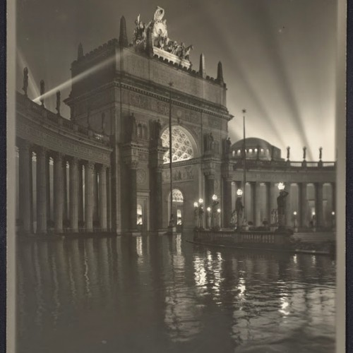 Willard E. Worden, <em>The Arch of the Rising Sun at Night</em>, 1915. Gelatin silver print. Jerry Bianchini Collection
