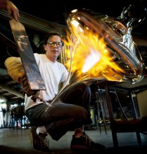 Jay MacDonell. Image courtesy of Pilchuck Glass School
