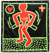 Keith Haring, Untitled, 1982. Vinyl ink on vinyl tarpaulin. Private collection © Keith Haring Foundation