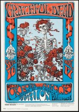 "Stanley Mouse and Alton Kelley, ""Skeleton and Roses"""