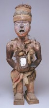 Nail and blade oath-taking figure, 19th century