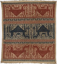 Ceremonial cloth (tampan), 2nd half of the 19th century