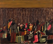 Jacob Lawrence painting of Negro Migration