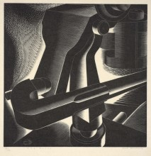 "Paul Landacre, ""The Press"", 1934"